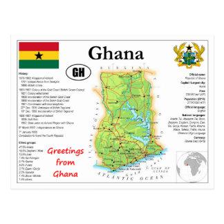Ghana map Postcard