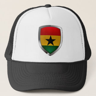 Ghana Mettalic Emblem Trucker Hat