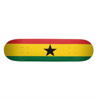 Ghana Plain Flag 19.7 Cm Skateboard Deck