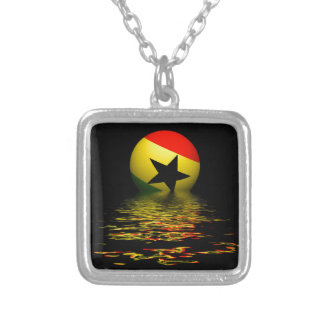 Ghana rising silver plated necklace