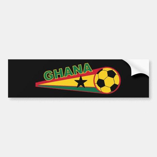 Ghana Soccer ball and flag design Bumper Stickers