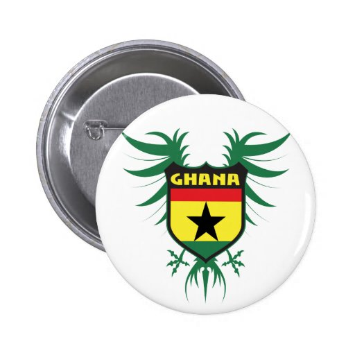 Ghana Winged Button