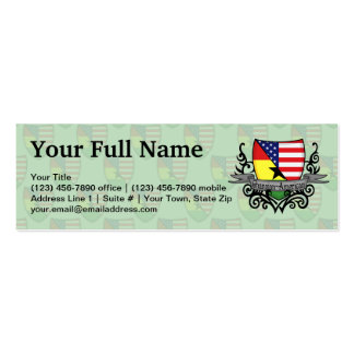 Ghanaian-American Shield Flag Double-Sided Mini Business Cards (Pack Of 20)