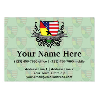 Ghanaian-American Shield Flag Pack Of Chubby Business Cards