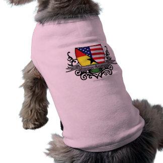 Ghanaian-American Shield Flag Sleeveless Dog Shirt