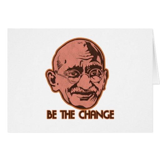 Ghandi Be The Change Card