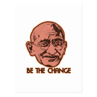 Ghandi Be The Change Postcard