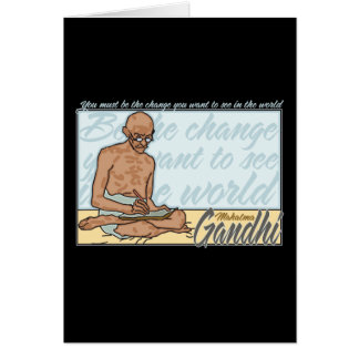 Ghandi Be The Change Quote Card