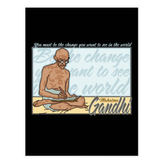Ghandi Be The Change Quote Post Cards