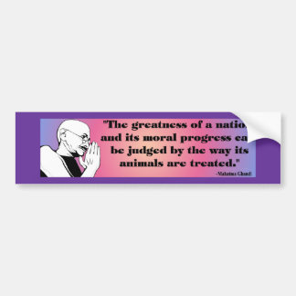 Ghandi Bumper Sticker