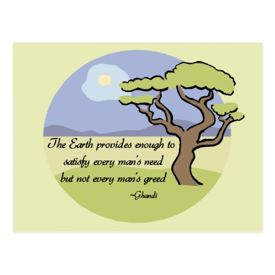 Ghandi Earth quote Postcard