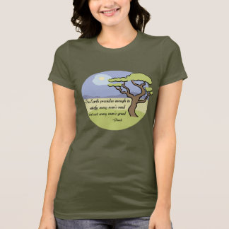 Ghandi Earth quote t-shirt