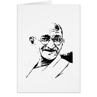 Ghandi Greeting Card