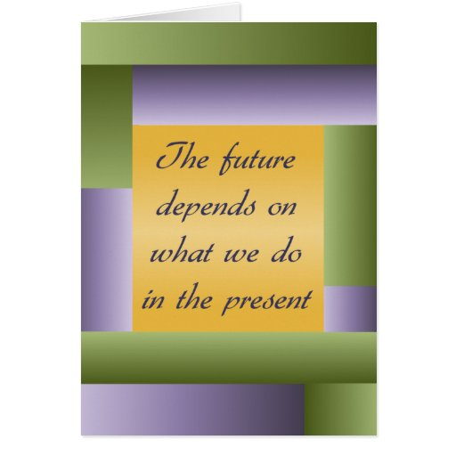Ghandi inspirational quote Notecard - add your own Greeting Cards