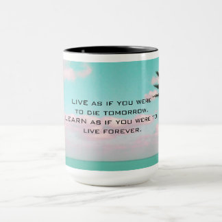 Ghandi Inspirational Quote Tropical Themed Mug