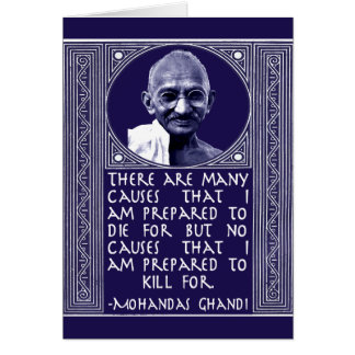 Ghandi on Causes Greeting Card