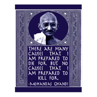 Ghandi on Causes Postcard