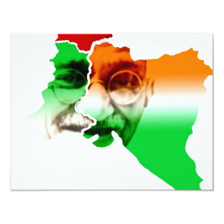 ghandi-on-india-and-pakistan-border 11 cm x 14 cm invitation card