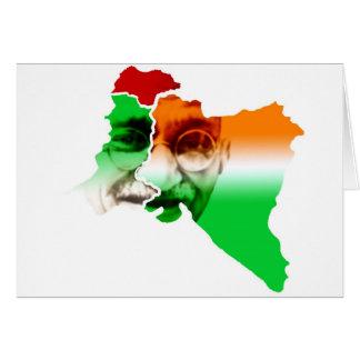 ghandi-on-india-and-pakistan-border greeting card