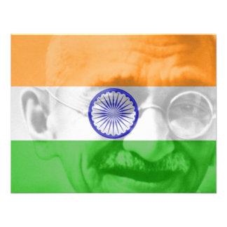 Ghandi on Indian Flag Custom Invitations