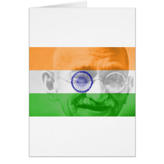 Ghandi on Indian Flag Greeting Card