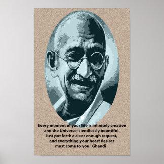 Ghandi quotation poster