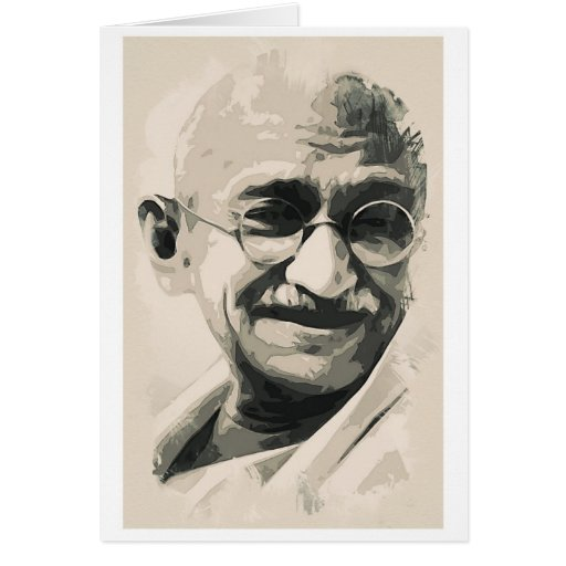 Ghandi smile greeting cards