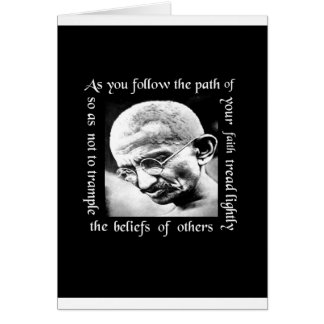 ghandi tread lightly greeting card
