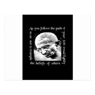 ghandi tread lightly postcard