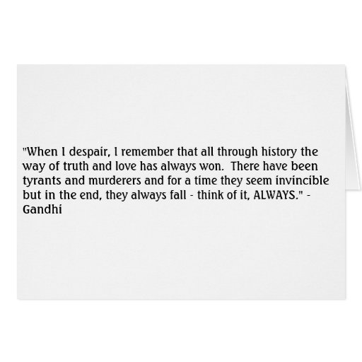 Ghandi Truth Greeting Cards
