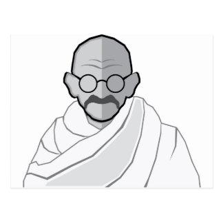 Ghandi Vector Postcard