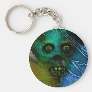 Ghastly Ghoul Basic Round Button Key Ring