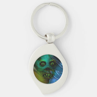 Ghastly Ghoul Silver-Colored Swirl Keychain