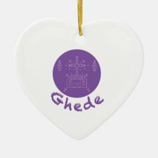 Ghede Samedi Veve Ceramic Heart Decoration