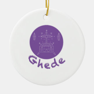 Ghede Samedi Veve Double-Sided Ceramic Round Christmas Ornament