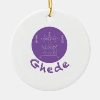 Ghede Samedi Veve Round Ceramic Ornament
