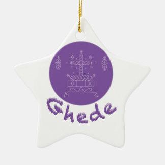 Ghede Samedi Veve Double-Sided Star Ceramic Christmas Ornament