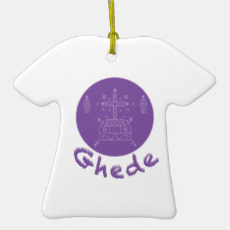 Ghede Samedi Veve Double-Sided T-Shirt Ceramic Christmas Ornament