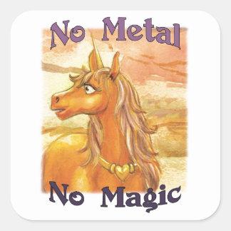 Ghel No Metal No Magic Stickers
