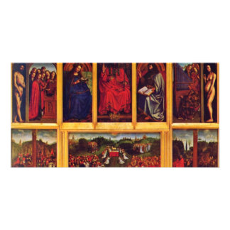 Ghent Altar Altar Of The Mystic Lamb Scene View Of Picture Card