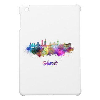 Ghent skyline in watercolor cover for the iPad mini