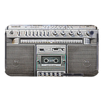 GHETTO BLASTER BARELY THERE iPod COVERS