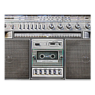 GHETTO BLASTER POSTCARD