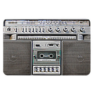 GHETTO BLASTER RECTANGULAR PHOTO MAGNET