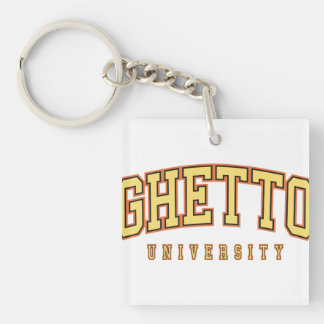 Ghetto University key chain