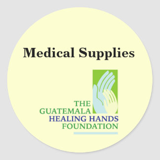 GHHF Logo, Medical Supplies Round Sticker