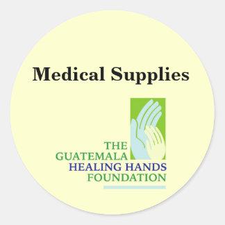 GHHF Logo, Medical Supplies Round Sticker
