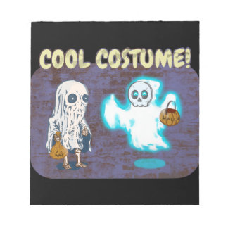 Ghost and Skeleton Costume Notepad