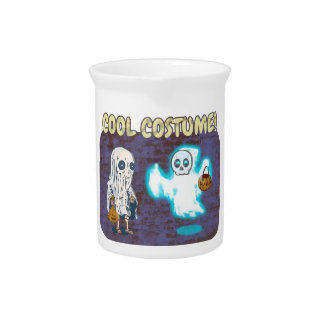Ghost and Skeleton Costume Pitcher
