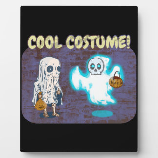 Ghost and Skeleton Costume Plaque